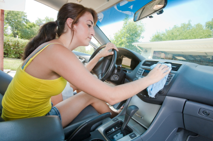 Girl Cleaning Car Interior How to Clean Car Interior