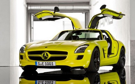 Mercedes Benz SLS E Cell Prototype 2 Mercedes Benz SLS E Cell Prototype